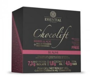 Chocolift Berries e Açaí Essential Nutrition Box 12 Unidades