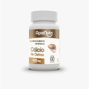 Cálcio de Ostras Apisnutri 60 cápsulas