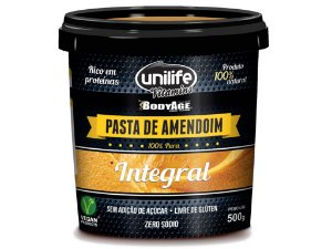 Pasta de Amendoim Integral 100% Pura Unilife 500g