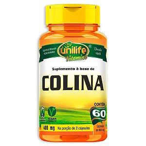 Colina Vitamina B8 Unilife 60 cápsulas