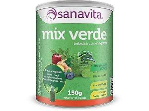 Mix verde Bebida Frutas e vegetais  Sanavita 150g