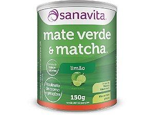 Mate Verde e Matcha Sanavita Limão 150g