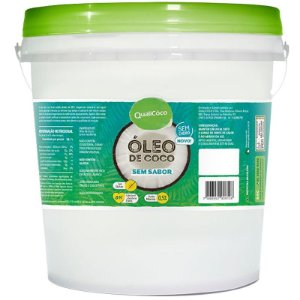 Óleo de Coco Sem Sabor Qualicoco 3 litros virgem