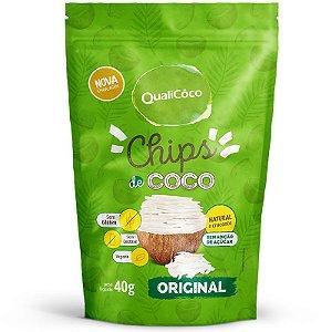 Chips de Coco Tradicional Qualicoco sem sabor 40g