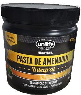 Pasta de Amendoim Unilife 1kg 100% Pura