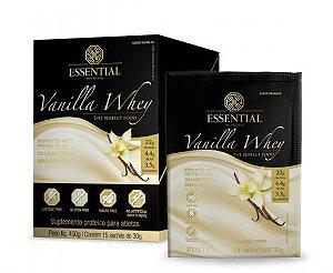 Vanilla Whey Protein Essential Nutrition Sachê 15 x 30g