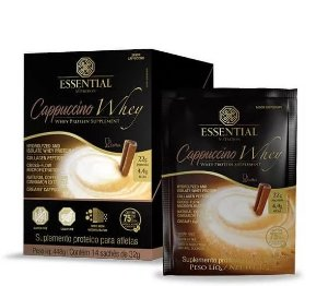 Capuccino Whey Protein Essential Nutrition Sachê 14 x 32g