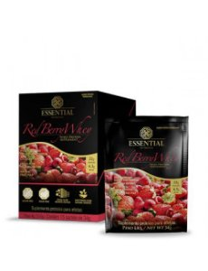 Red Berry Whey Protein Essential Nutrition Sachê 15 x 34g