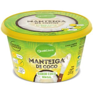Manteiga de Coco Qualicoco 200g Natural