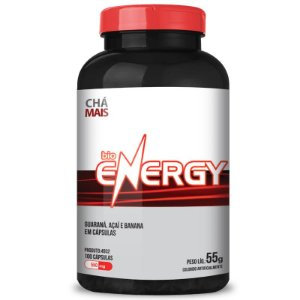 Bio Energy Guaraná 500mg Chá Mais 100 cápsulas