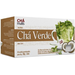 Chá Verde Chá Mais 30 sachês sabor Coco