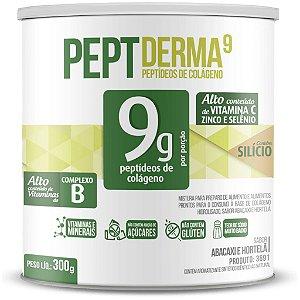 Colágeno Hidrolisado Peptderma 9 Chá Mais 300g Abacaxi com Hortelã