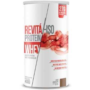 Whey Protein Isolado 27g Revitá 400g Chocolate