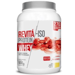 Whey Protein Isolado 27g Revitá 900g Chocolate