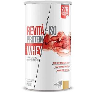 Whey Protein Isolado 27g Revitá 400g Doce de leite