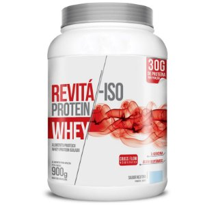 Whey Protein Isolado 30g Revitá 900g Neutro