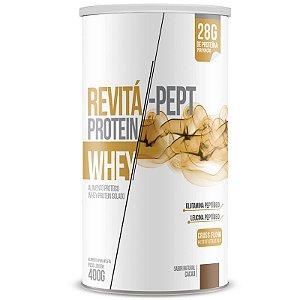 Whey Protein Isolado Pept 28g Revitá 400g Cacau