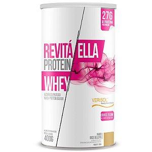 Whey Protein Isolado Ella 27g Revitá 400g Doce de Leite