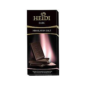 Chocolate Amargo Sal Rosa Himalaia 80g HEIDI