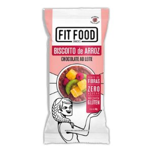 Biscoito de Arroz c/ Chocolate ao Leite 60g FIT FOOD