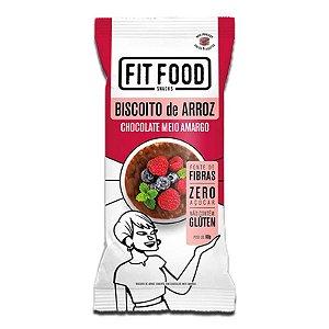 Biscoito de Arroz c/ Chocolate Amargo 60g FIT FOOD