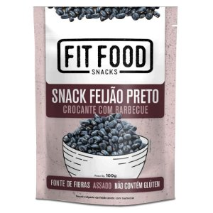 Snack Feijao Preto Barbecue 100g FIT FOOD