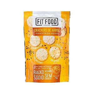 Cracker de Arroz Pimenta do Reino 75g FIT FOOD