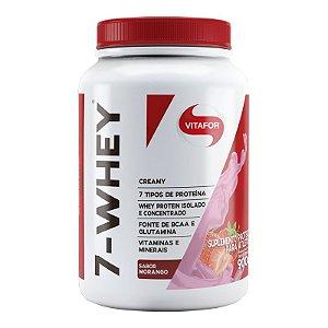 Whey protein 7-Whey Vitafor 900g Morango