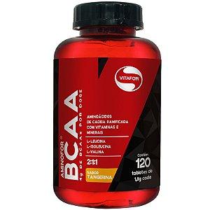 Aminofor BCAA Vitafor 120 tabletes Tangerina
