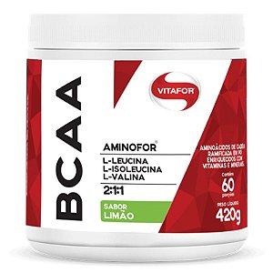 Aminofor BCAA em pó Vitafor 420g Limão