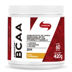 Aminofor BCAA em pó Vitafor 420g Tangerina