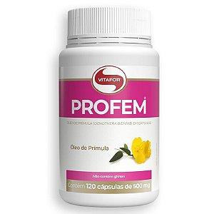 Óleo de Prímula Profem 500mg Vitafor 120 cápsulas