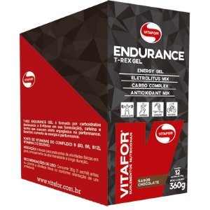 Endurance Gel Carboidrato Vitafor 12 saches Chocolate