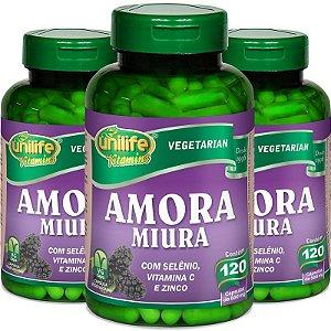 Kit 3 Amora Miura Unilife 120 Cápsulas