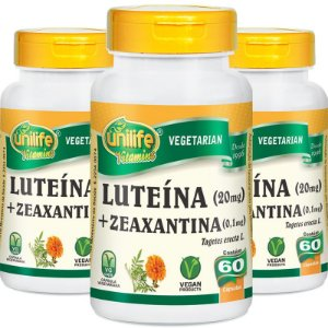 Kit 3 Luteína e Zeaxantina Unilife 60 Cápsulas