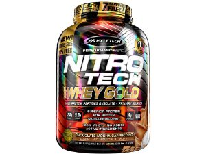 Nitro tech Whey Gold Muscletech 2,50kg Chocolate Mocha Cappucino