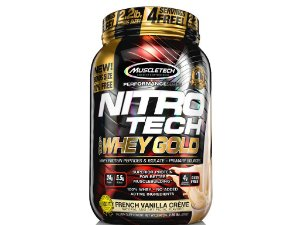 Nitro tech Whey Gold Muscletech 1,02kg French Vanilla creme