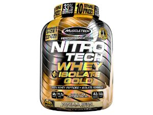 Nitro tech Whey Gold Isolate Muscletech 1,81kg Vanilla
