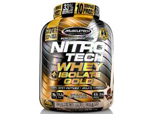 Nitro tech Whey Gold Isolate Muscletech 1,81kg Cookies and Cream