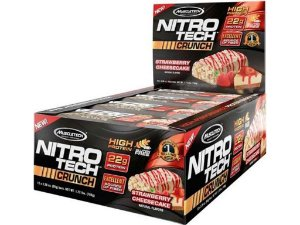 Nitro tech Crunch Bar Muscletech Strawberry Cheesecake