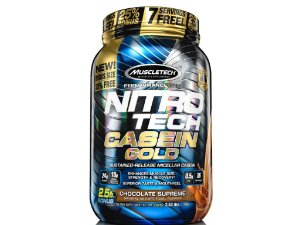Nitro tech Caseina Gold Muscletech 1,15kg Chocolate Supreme