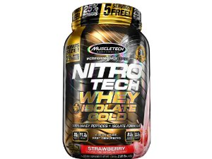 Nitro tech Whey Gold Isolate Muscletech 907g Strawberry