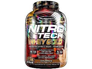 Nitro tech Whey Gold Muscletech 2,49kg Churros