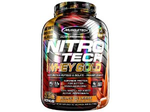Nitro tech Whey Gold Muscletech 2,49kg Doce de Leite