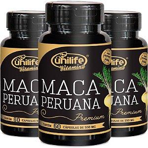 Kit - 3 Maca Peruana Premium 550mg Unilife 60 capsulas