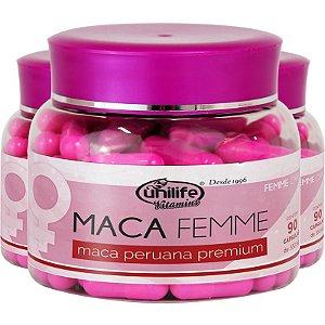 Kit - 3 Maca Peruana Premium Femme Unilife 60 cápsulas