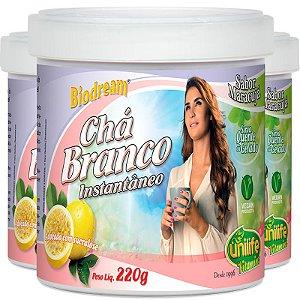 Kit - 3 Chá Branco solúvel Unilife Sabor Maracuja Unilife 220g