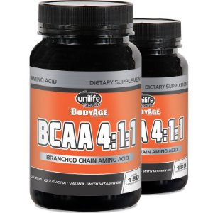 Kit - 2 BCAA 4:1:1 Unilife 180 Cápsulas 630mg