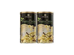 Kit - 2 Veggie Protein Essential Banana com Canela 462g