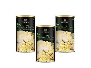 Kit - 3 Veggie Protein Essential Banana com Canela 462g